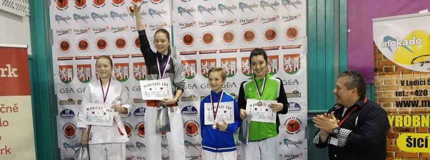 Z Wakizaši Cupu jsme přivezli medaile z kata i kumite!
